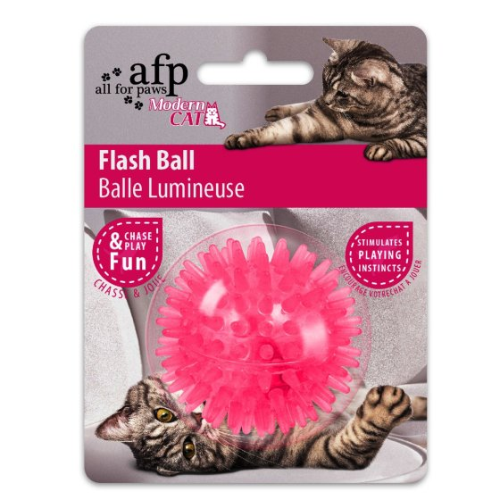 Modern Cat - Flash Ball - Katzenspielzeug Ball mit Blinkfunktion - rosa