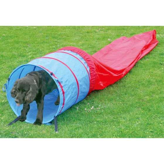 Agility Tunnel Dog Tunnel Play Tunnel Sacktunnel 5 meter blauw-rood