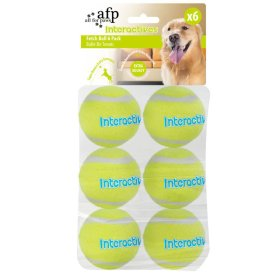 Vervangingsballen voor Fetch'N Treat Interactives Toy - Fetch Balls - Set van 6