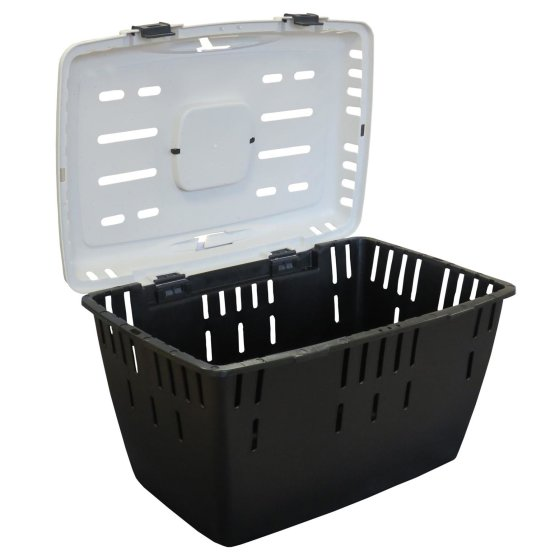 Hundetransportbox Katzentransportbox Kleintiertransportbox DAKOTA anthrazit-weiss